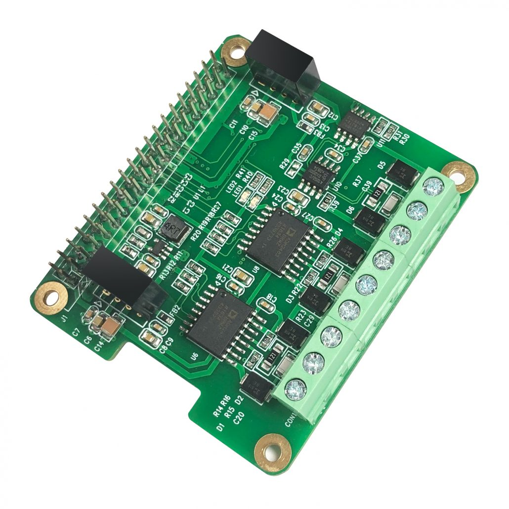 RS485 and CAN industrial communication module for Raspberry Pi